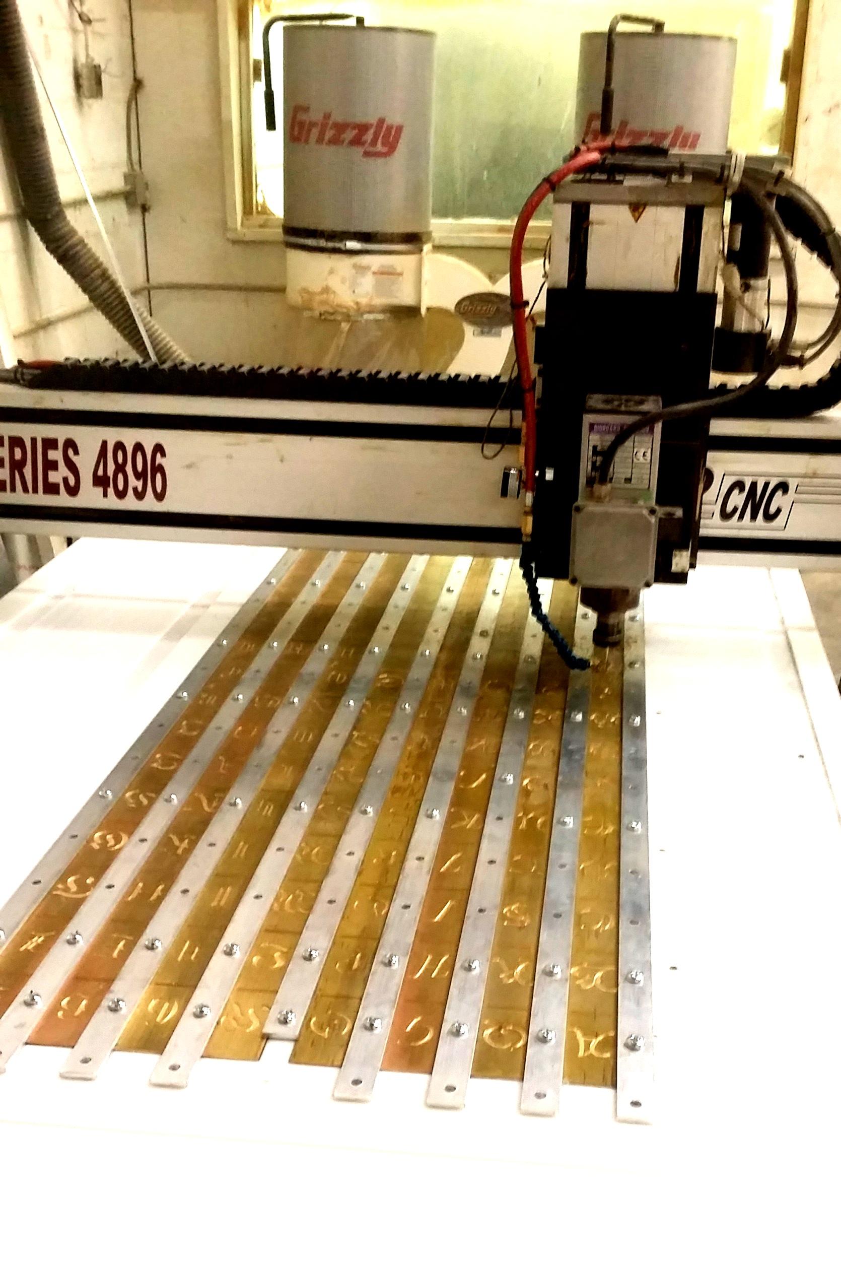 CNC MACHINING - Fairmont Hotel Brass Plates