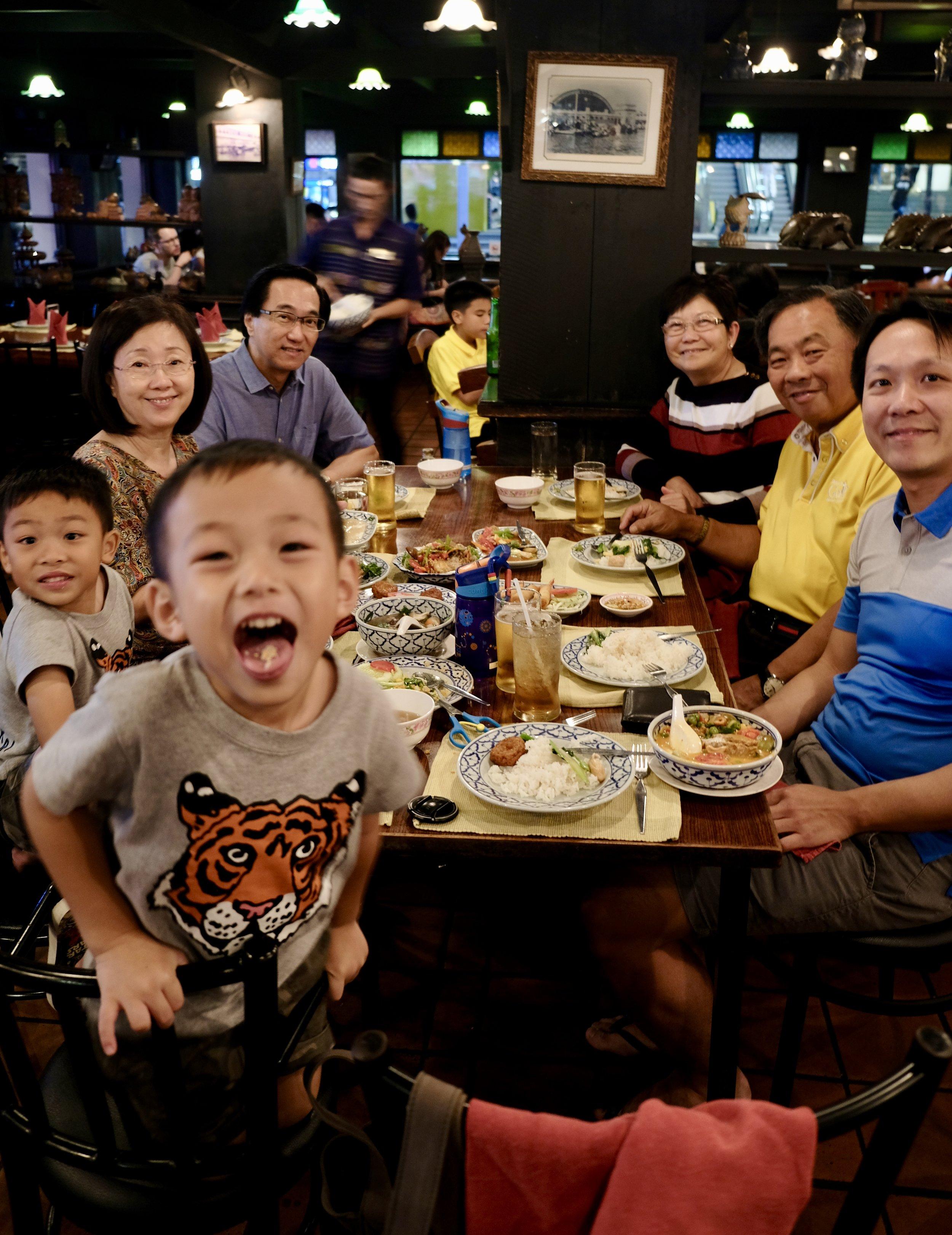 First Family Dinner in Bangkok