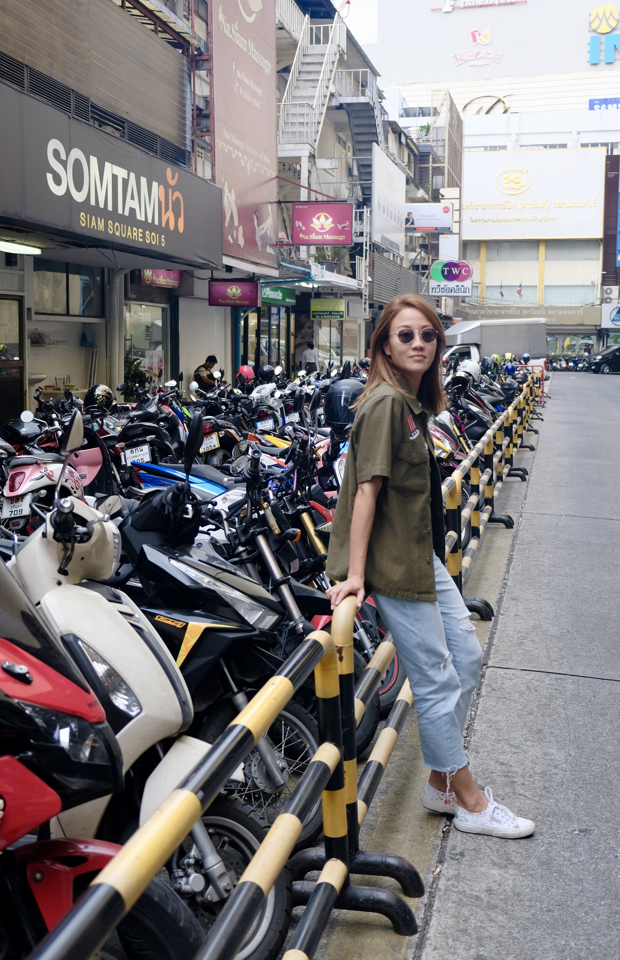 Jeans: Uniqlo White Tee:    Grana    Jacket: Tokyo Boutique Shoes: Superga