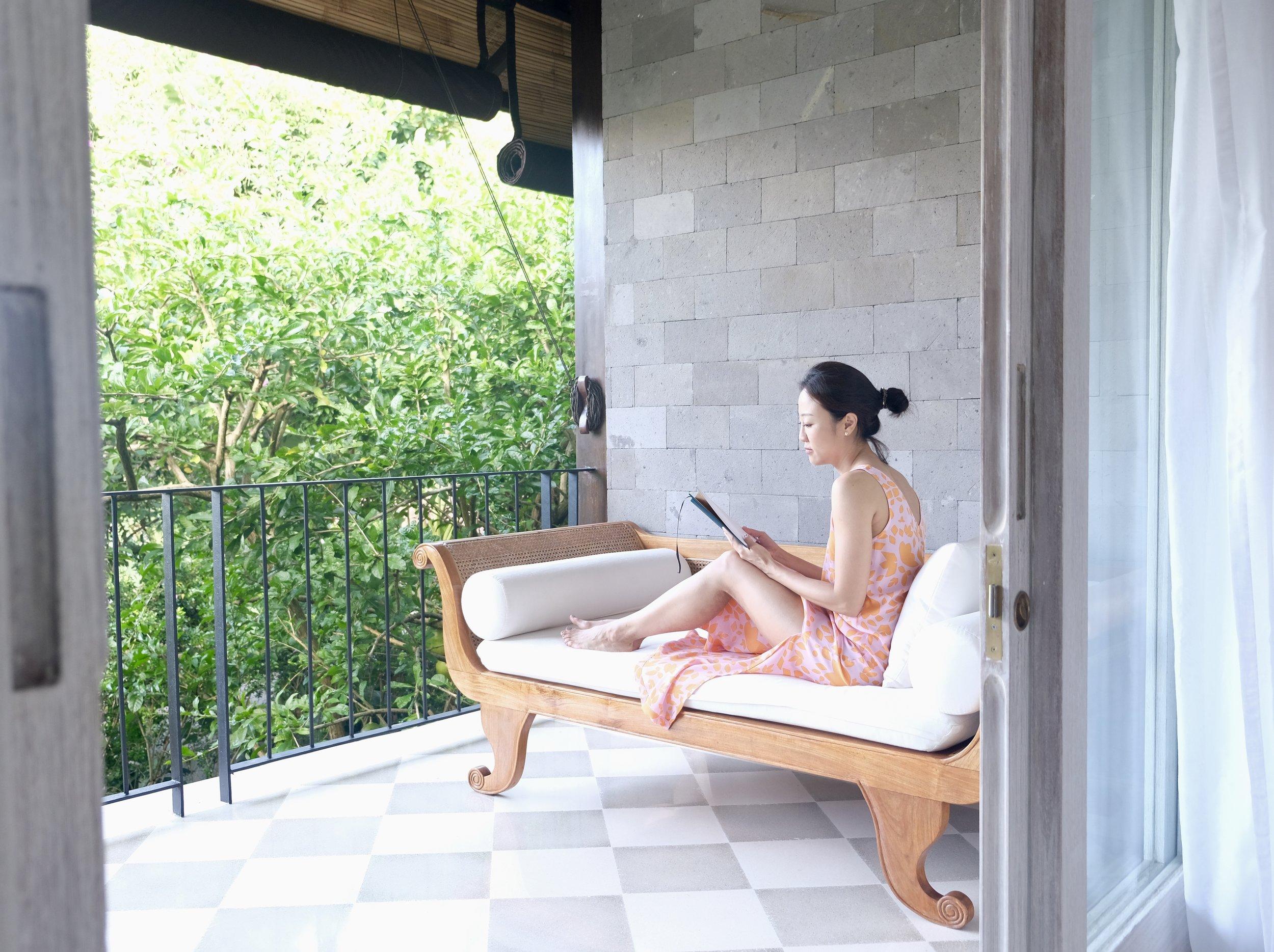 Quiet Time on the balcony at COMO UMA UBUD