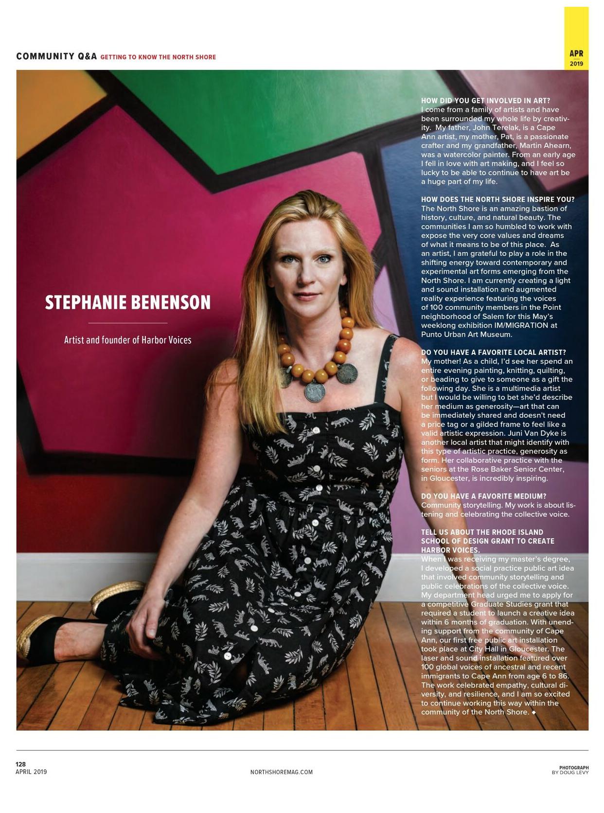 Stephanie Benenson, Northshore Magazine
