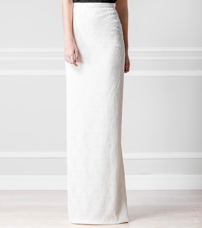 Falda tub blanca - €110