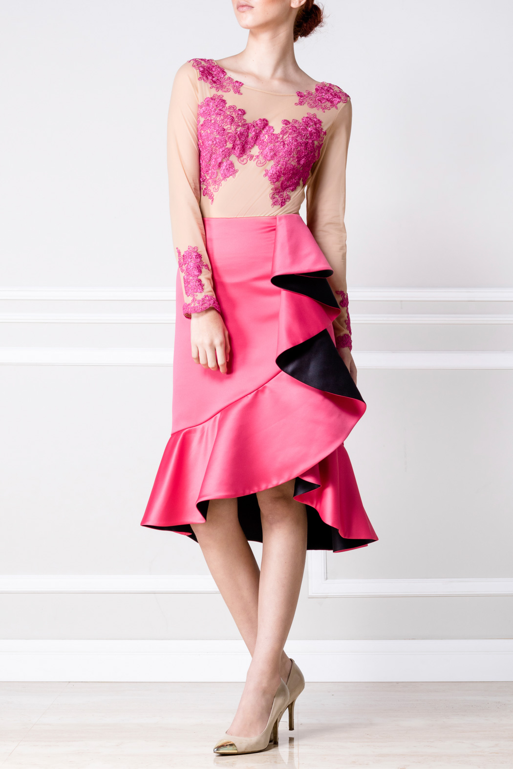 Falda Lola rosa y negro - €230