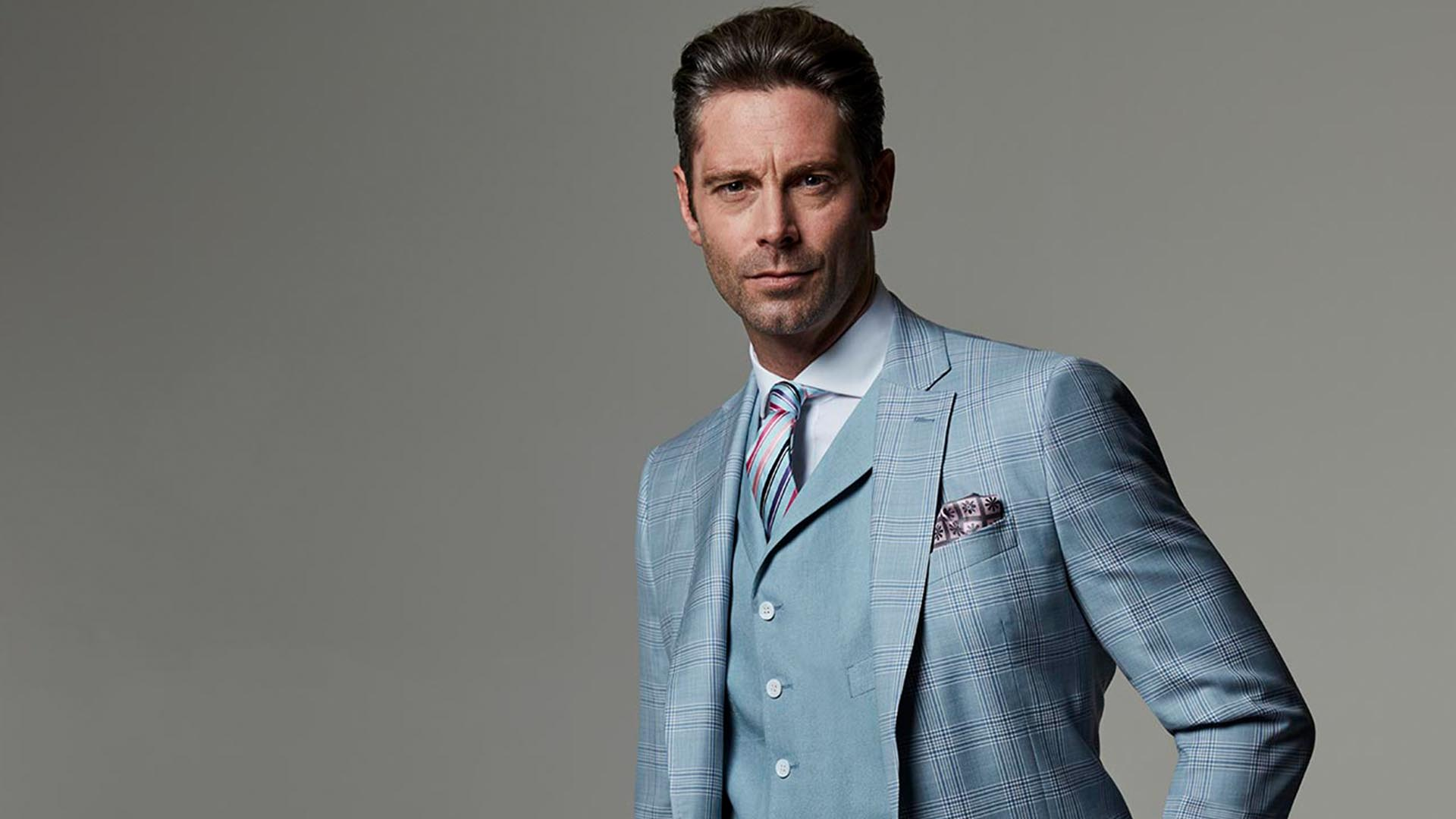 The collection - A range of suits inspired by the latest trends in fit and fabrics.