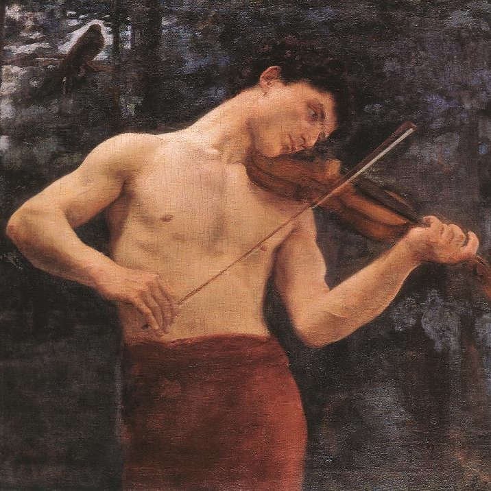 Károly Ferenczy — Orpheus,1894. Oil on canvas, 98 cm x 117 cm.