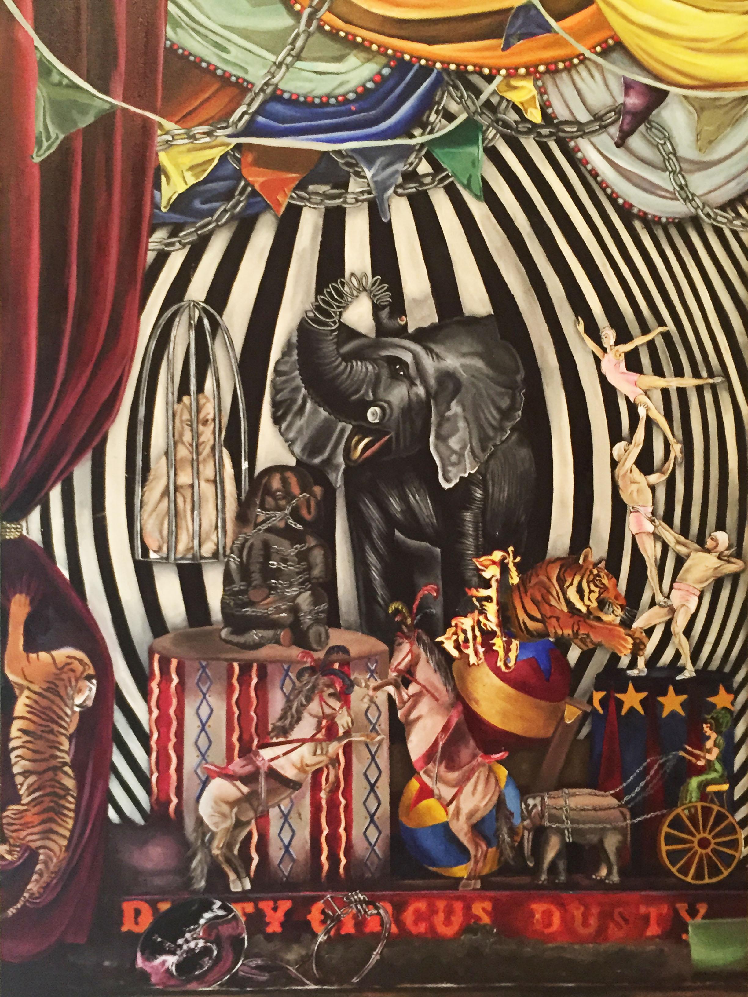 Circus  Acrylic on canvas  52 X 40