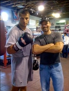 Coach Craig Smith (right) with Ex- Heavyweight Champ Sergei Liakhovich
