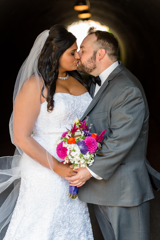 Indian Bride and Groom Happy Wedding Portrait