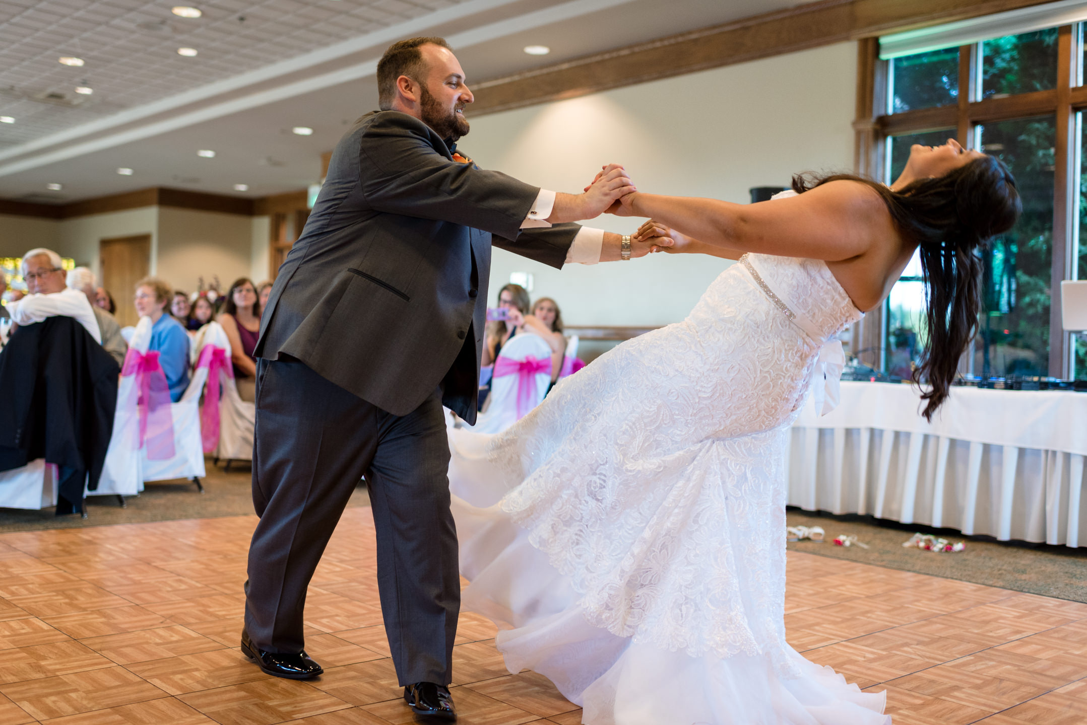 Indian Bride and Groom First Dance at Echo Falls Golf Course