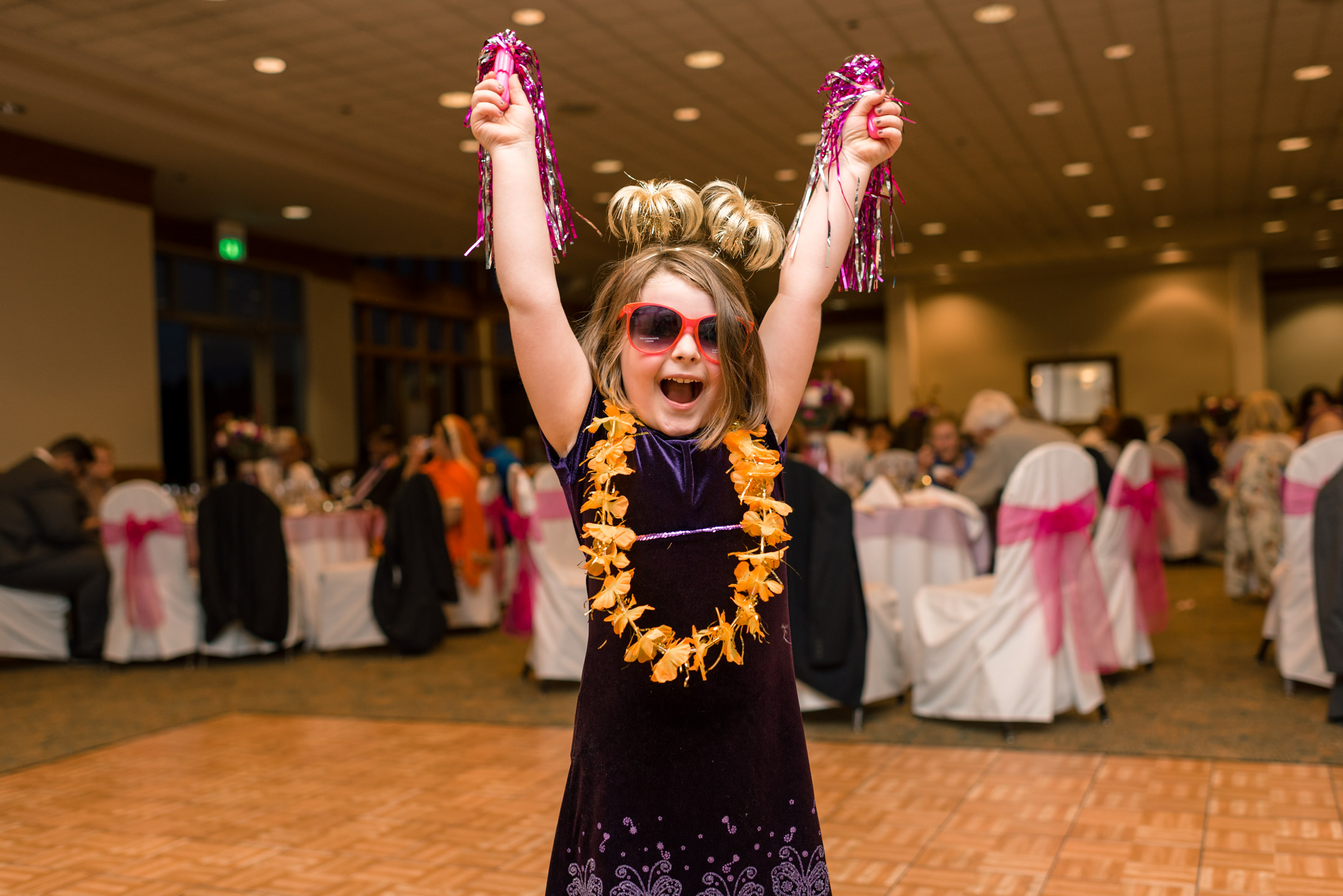Wedding Guests Dance and Have Fun during Reception