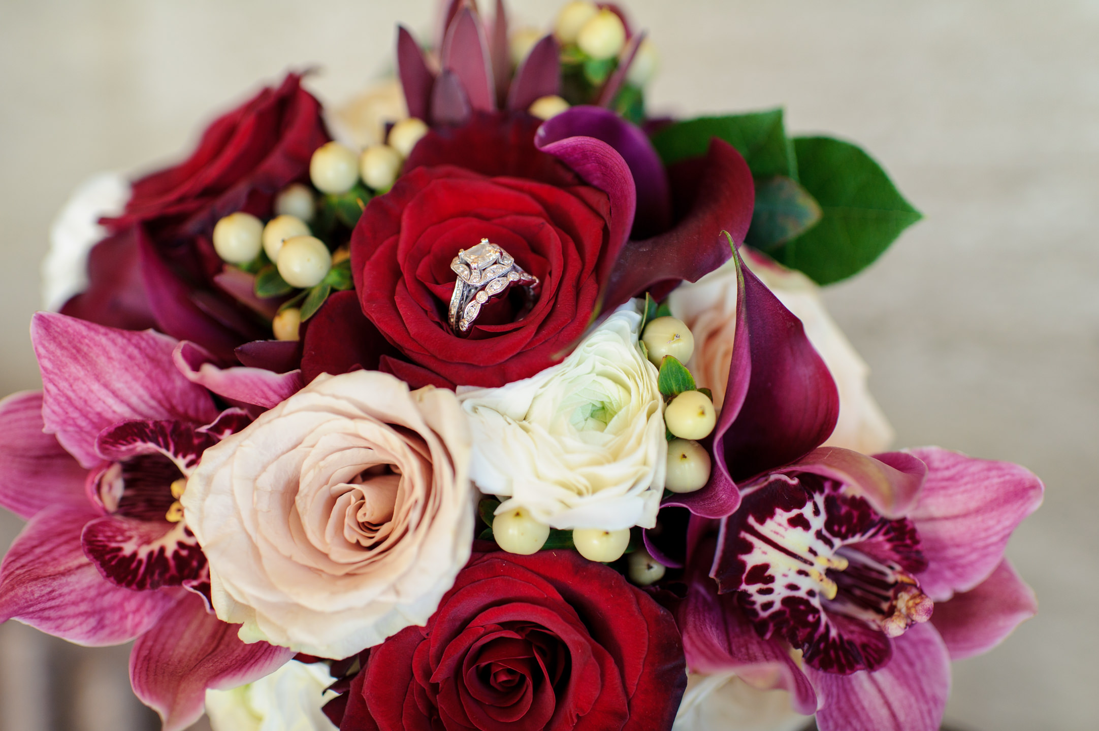 Ring and Bouquet Details at Edgewater Hotel