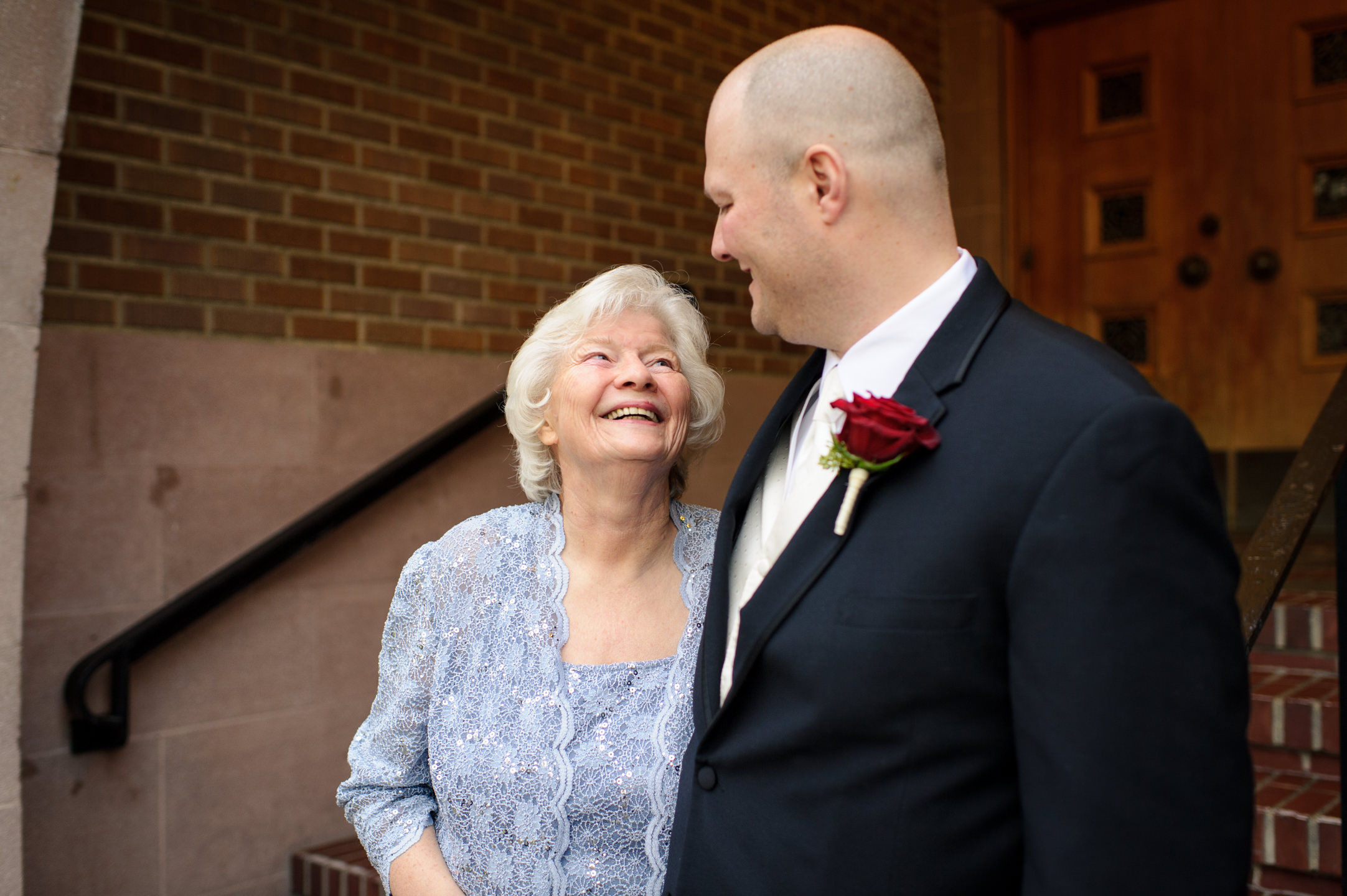 Happy Groom and Mother