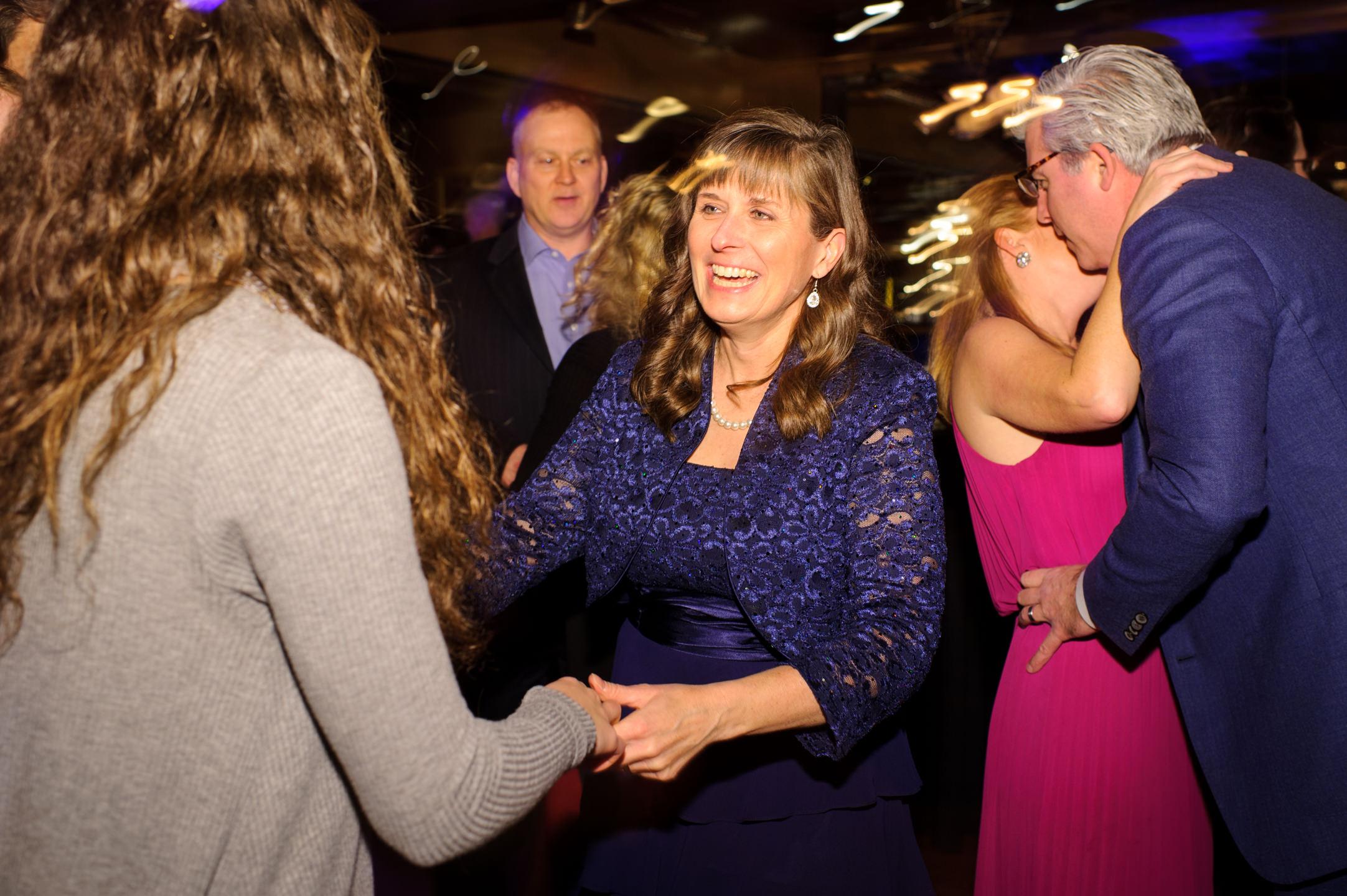Wedding Guest Dances at Lake Union Cafe