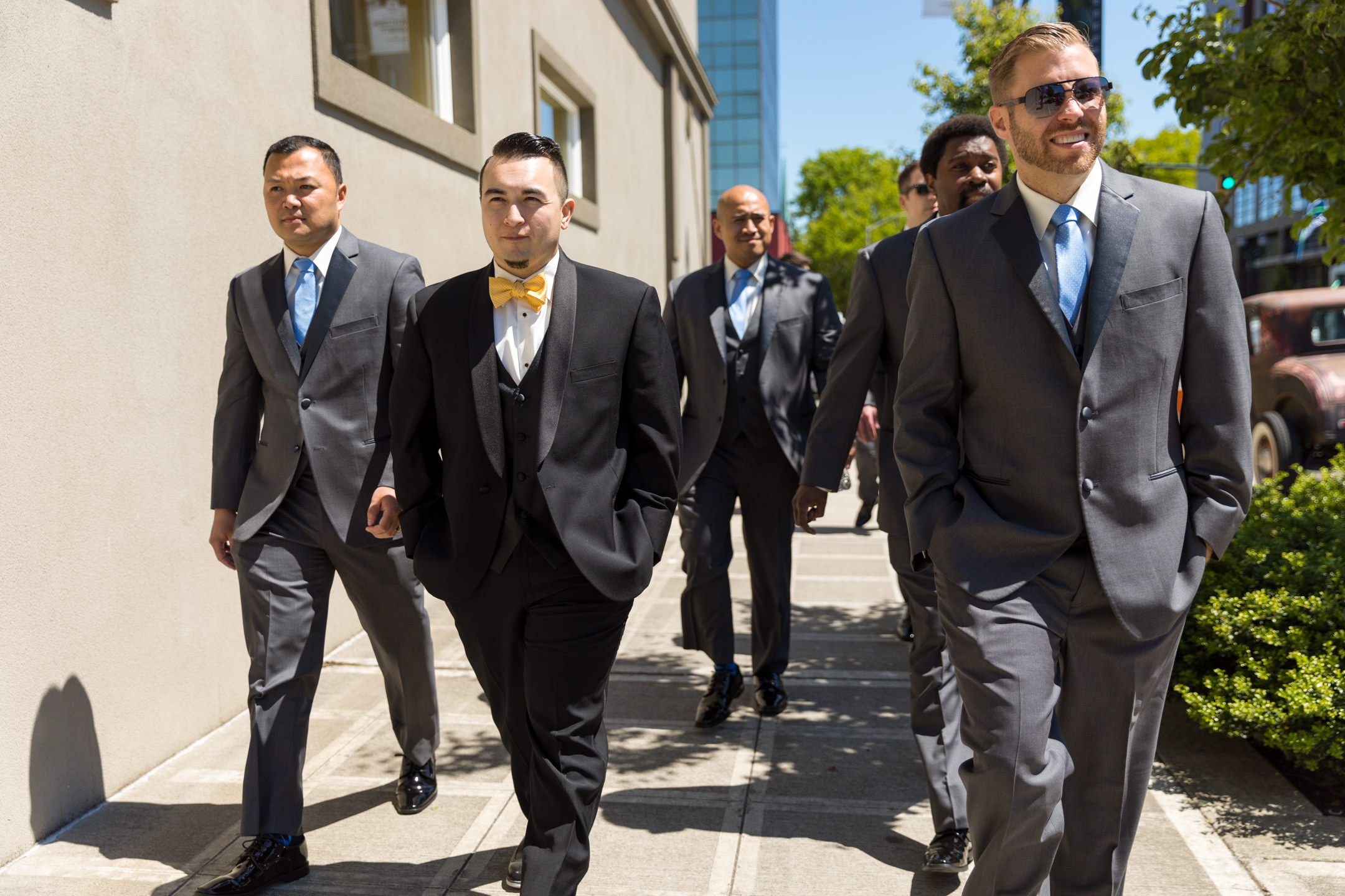 Groom and Groomsmen Squad Walk