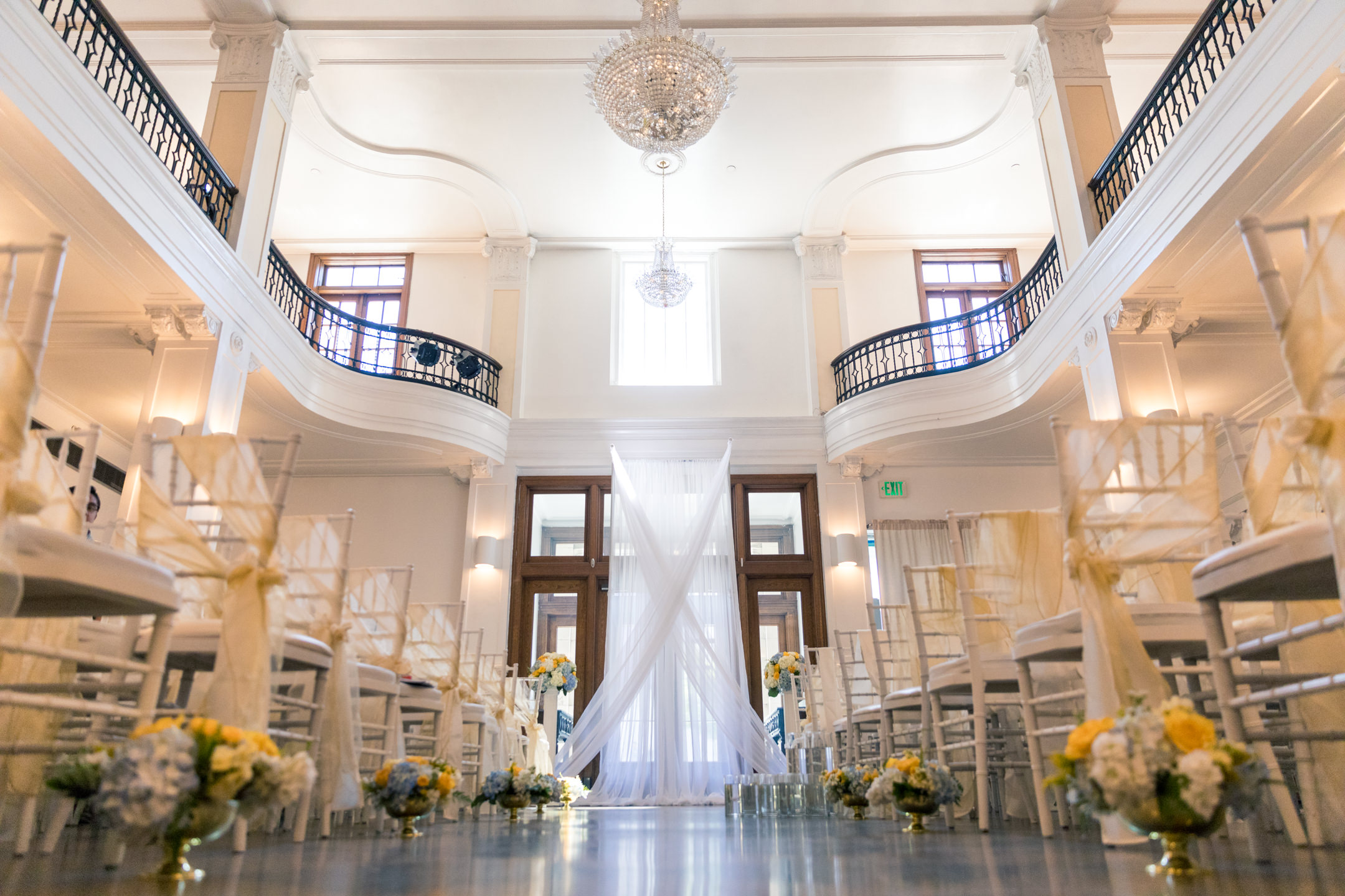 Wedding Ceremony Details at Monte Cristo Ballroom in Everett