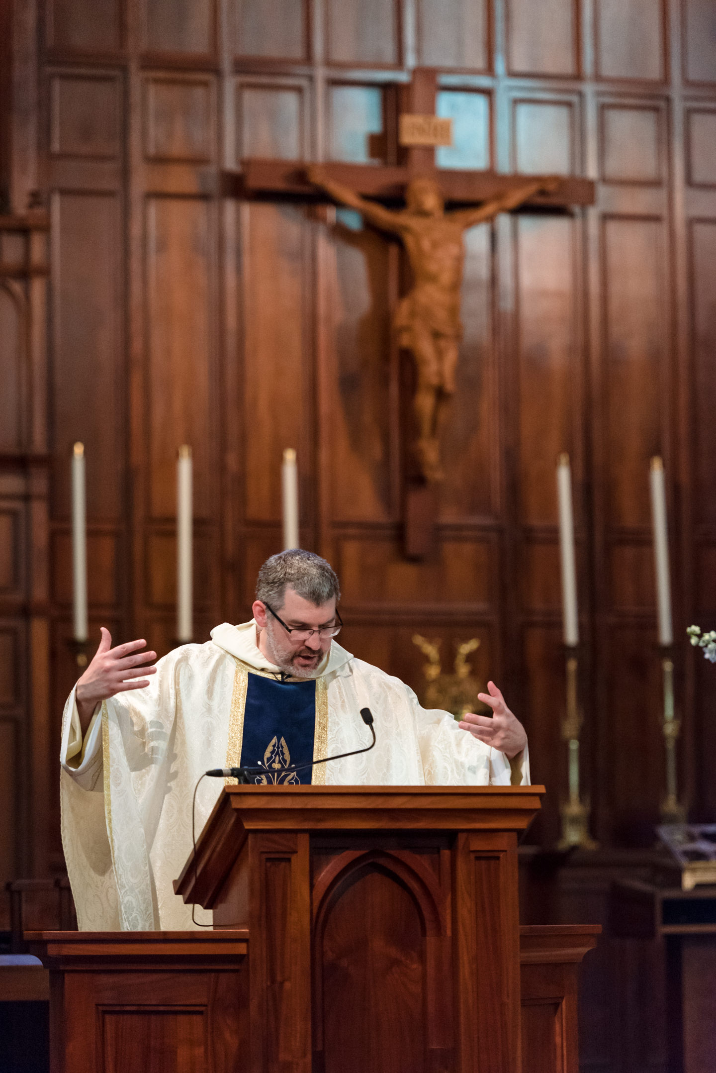 Priest Gives Sermon during Wedding Ceremony