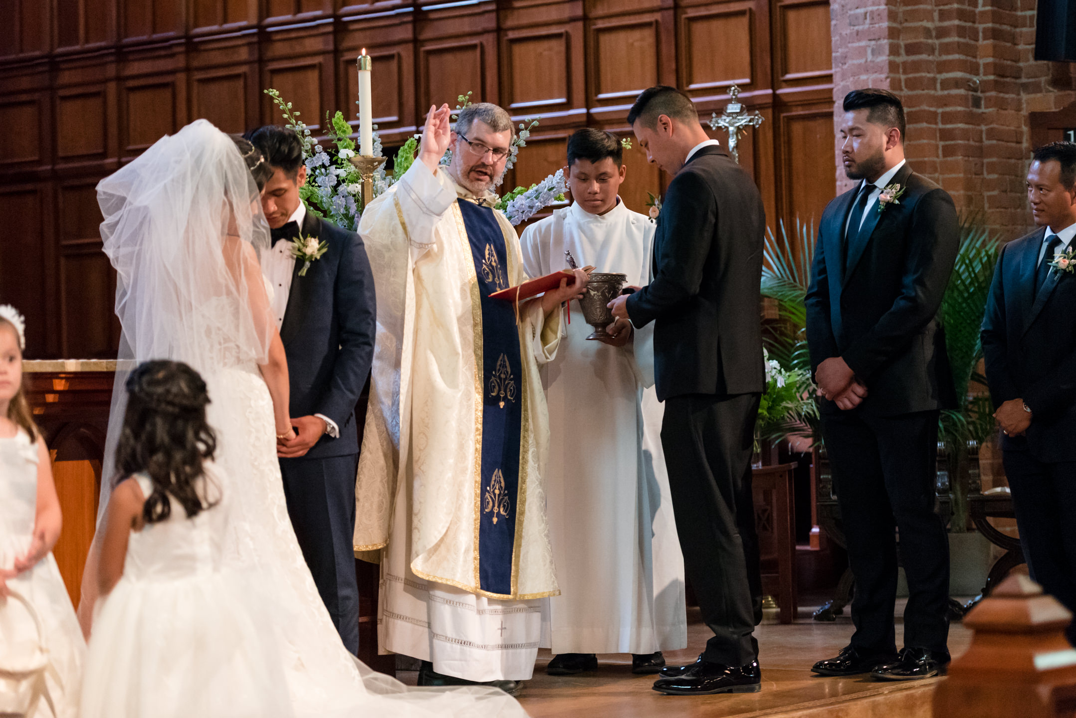 Priest Blessing During Wedding Ceremony