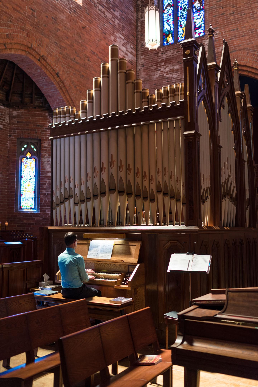 Church Organ Wedding Ceremony Detail