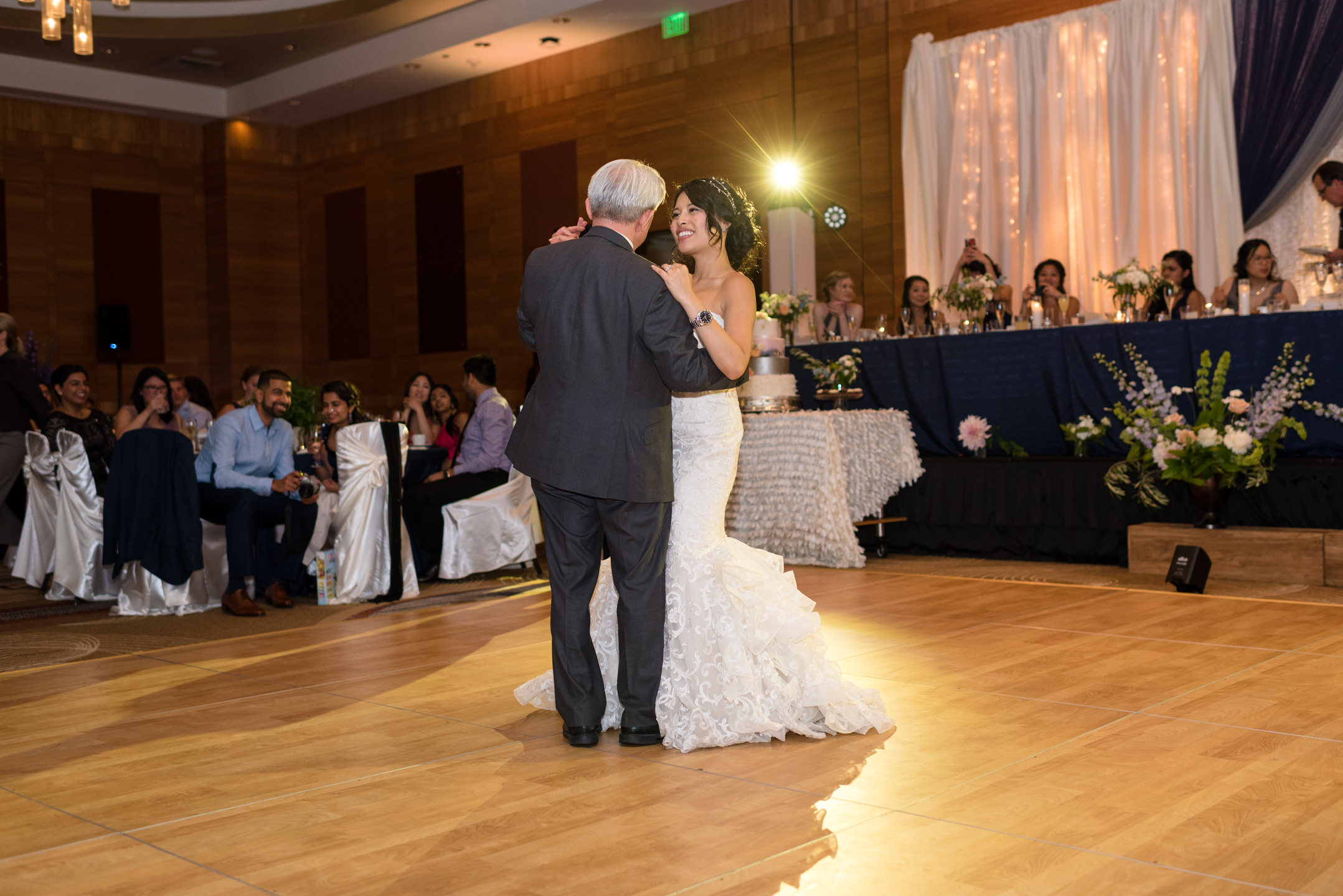 Asian Bride and Father Dance at Olive 8