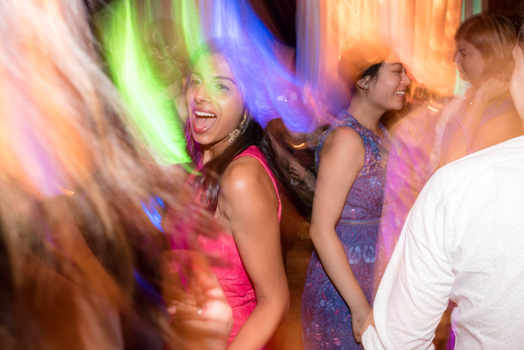 Guests Dance at Wedding Reception at Olive 8
