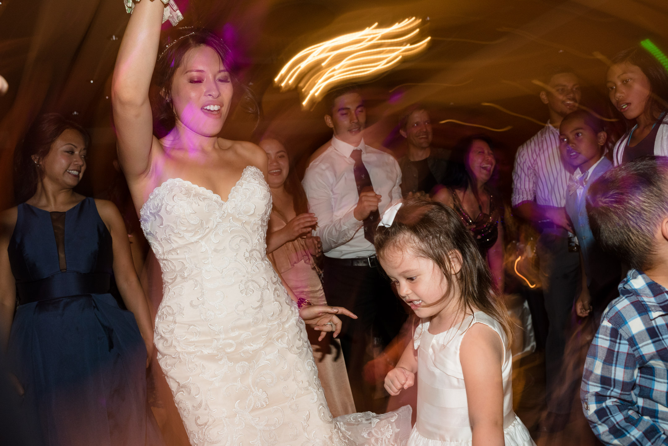 Asian Bride and Kid Dance at Wedding Reception