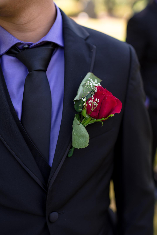 Asian Groom Boutonneire Wedding Details