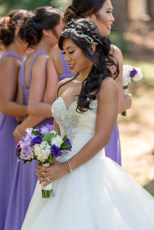 Asian Bride and Bridesmaids Wedding Portrait