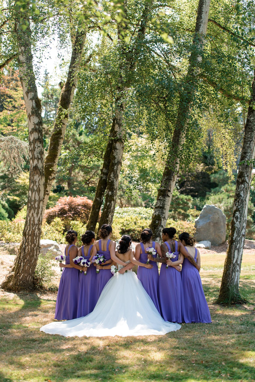 Asian Bride and Bridesmaids Outdoor Wedding Portrait at Kubota G