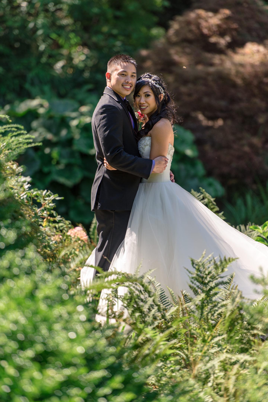 Asian Bride and Groom Editorial Wedding Portrait
