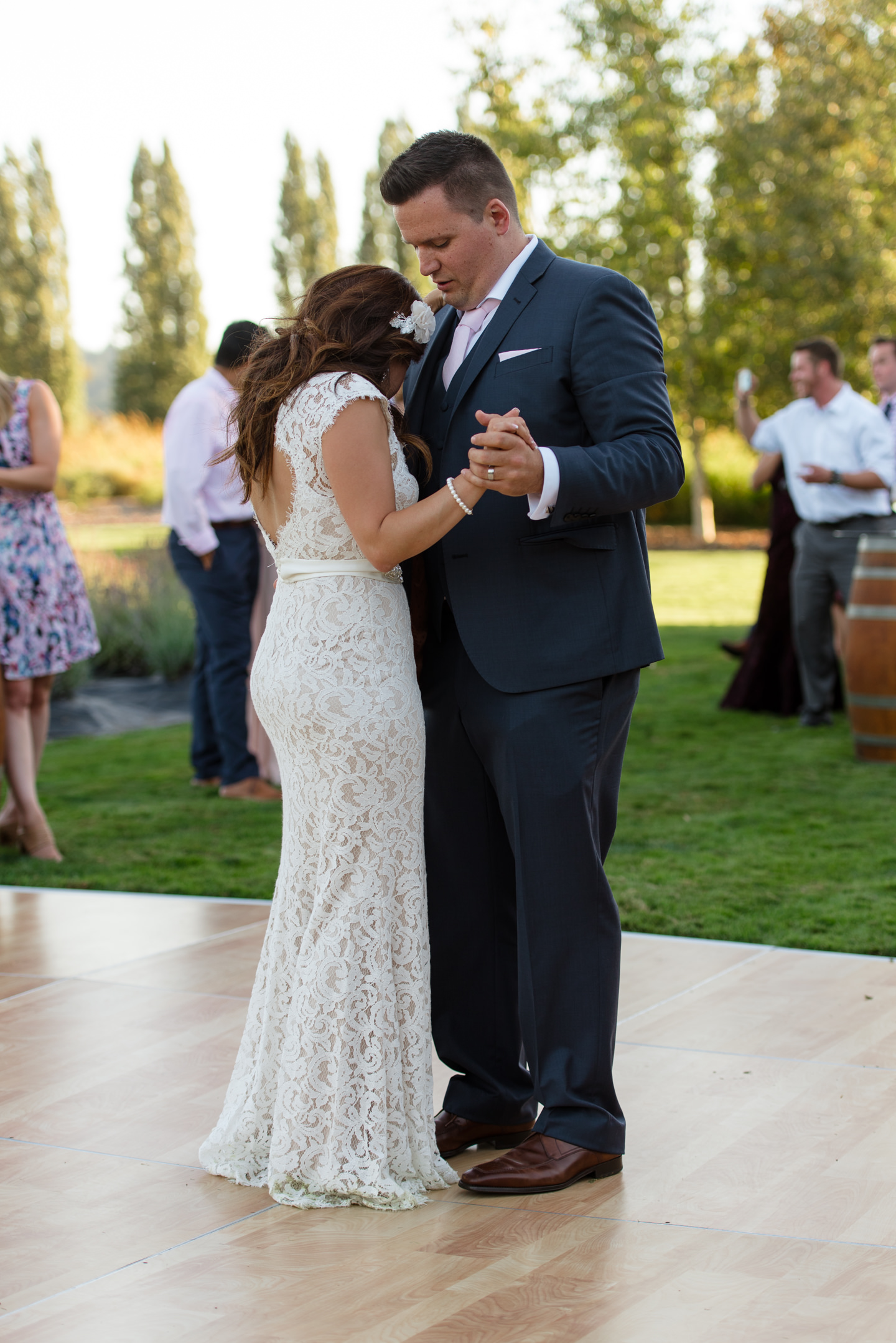 Salvadoran Bride and Groom First Dance at Woodinville Lavender