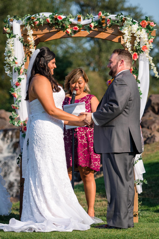 Indian Bride and Groom Happy Wedding Ceremony at Echo Falls Golf