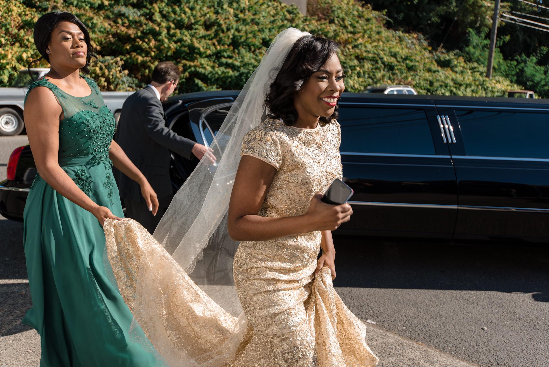Bride Entering Tyee Yacht Club