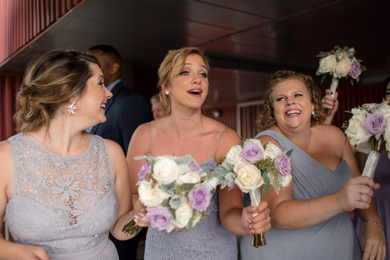 Bridesmaids Laughing and Having Fun