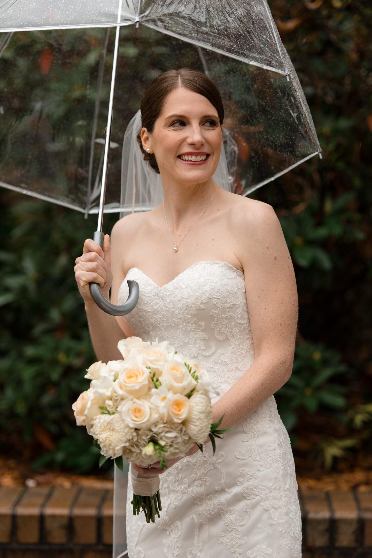 Rainy Bridal Portrait at University of Washington