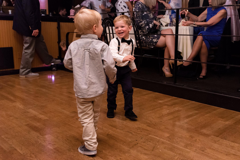 Kids Dancing at Wedding at Lake Union Cafe