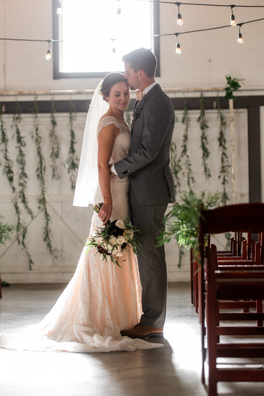 Bride and Groom Romantic Wedding Portrait