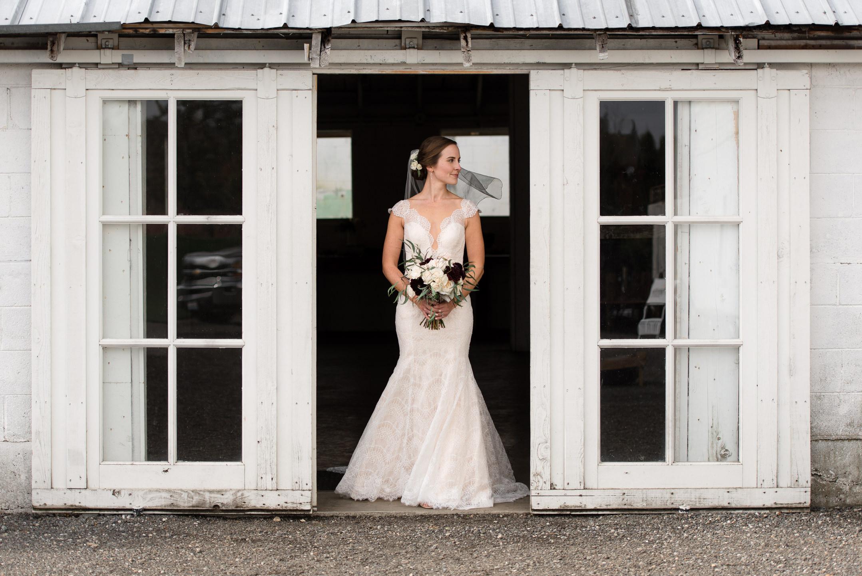 Editorial Bridal Portrait at Dairyland in Snohomish
