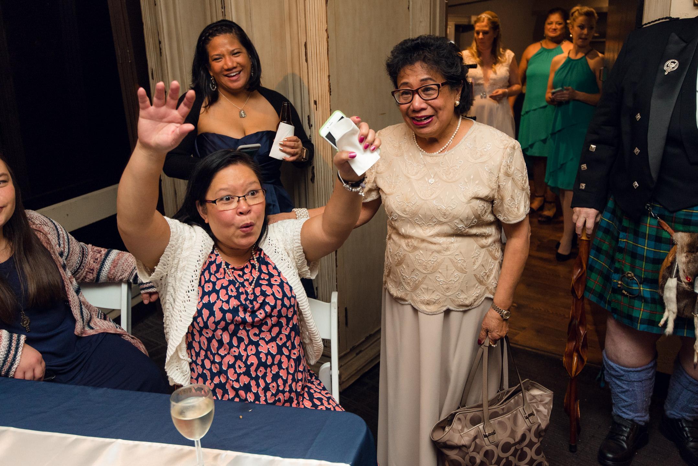 Groom's Mother Renactment During Wedding Ceremony