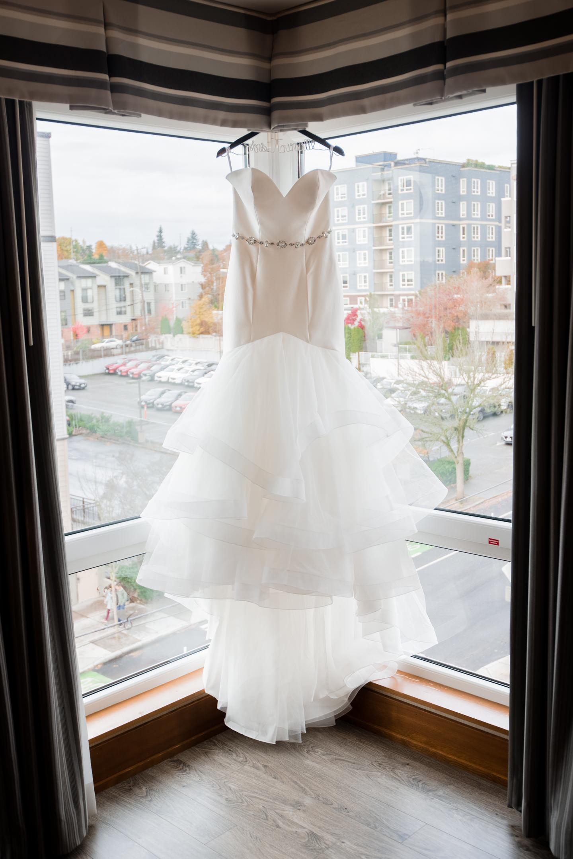 Bride's Dress at Watertown Hotel