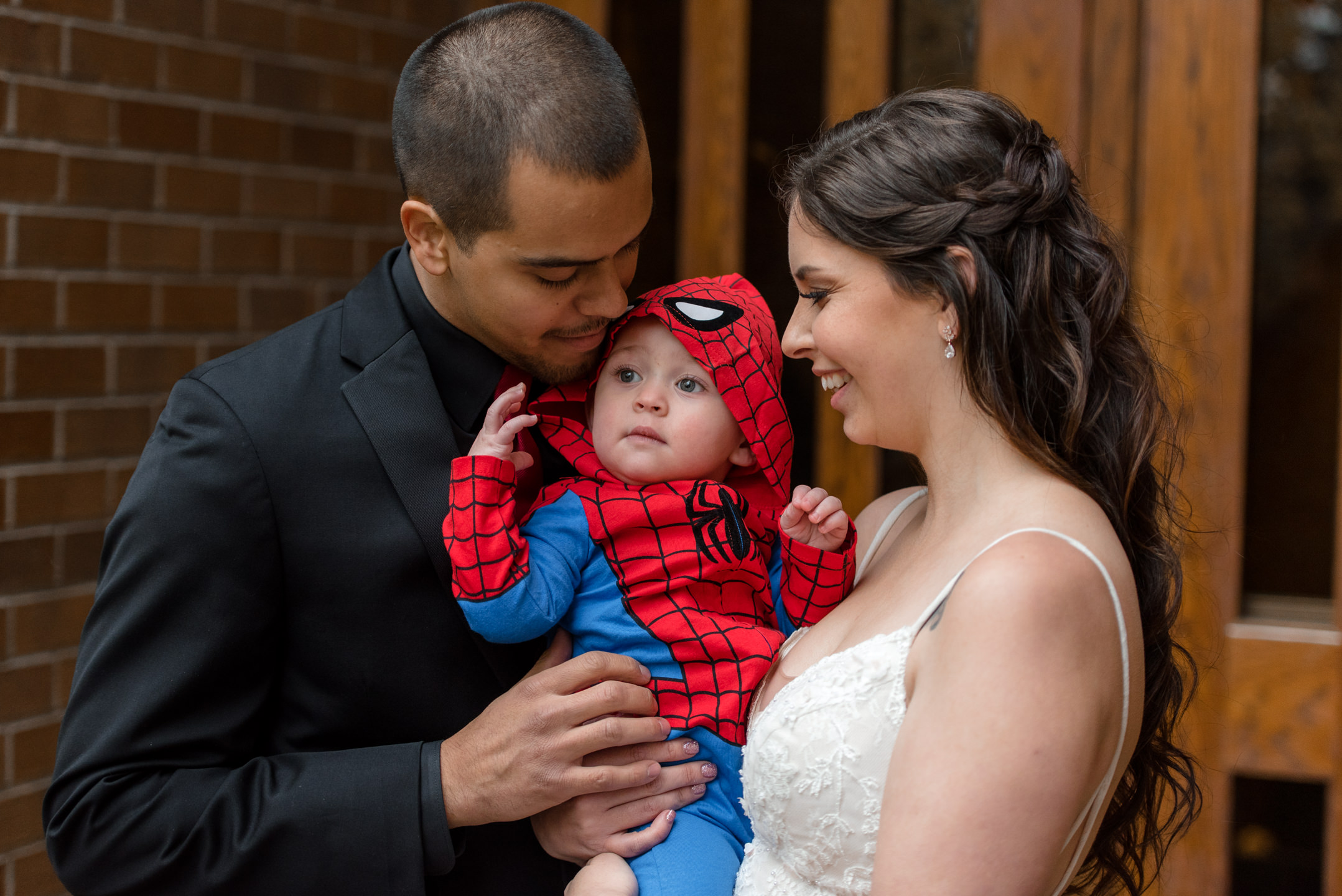 Bride and Mexican Groom Nephew at University of Washington