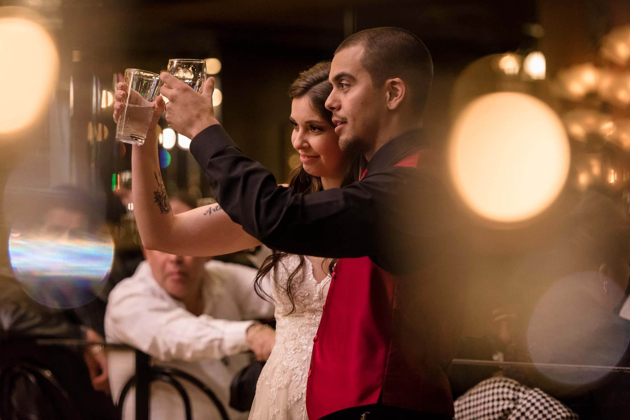 Bride and Mexican Groom Toast