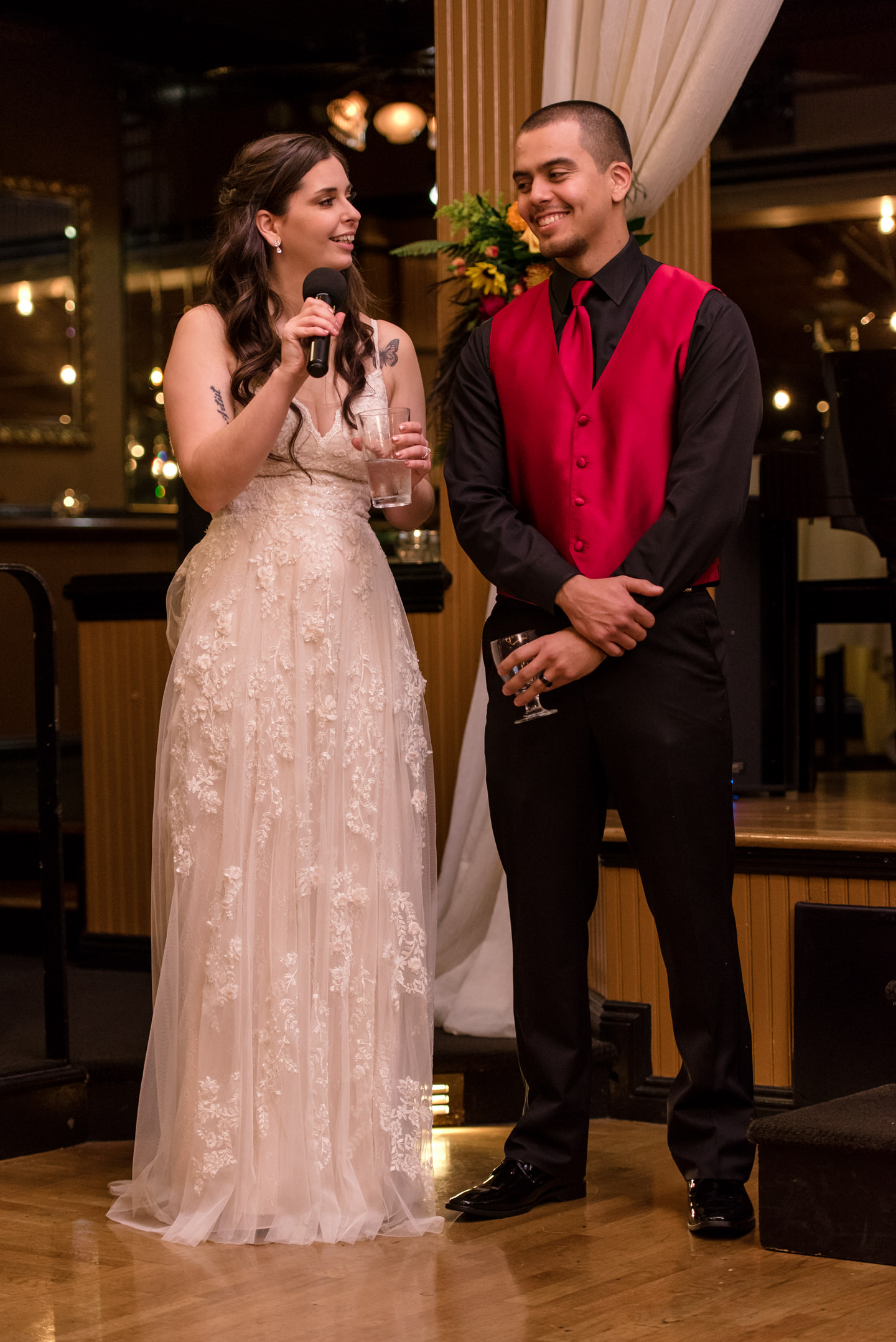 Bride and Mexican Groom Give Thanks at Lake Union Cafe