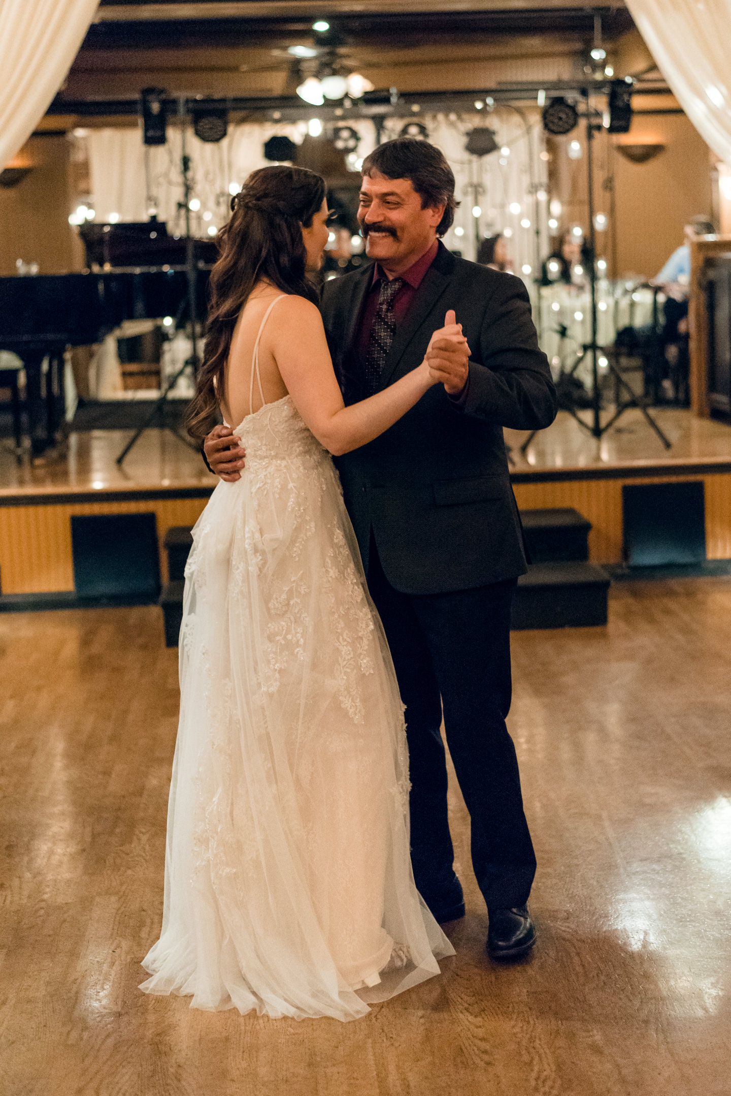 Bride and Groom's Father Dance at Lake Union Cafe
