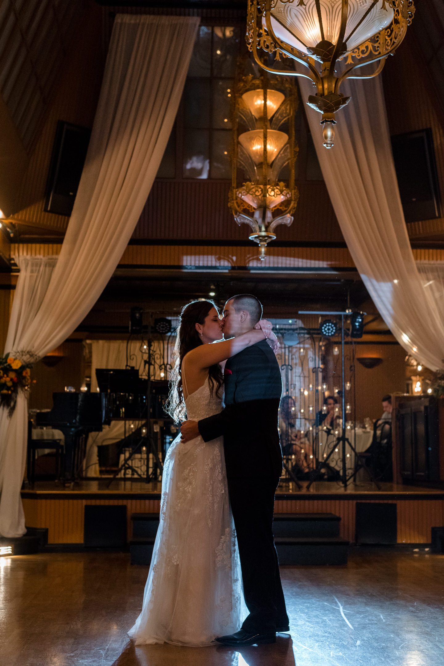 Bride and Mexican Groom First Dance at Lake Union Cafe