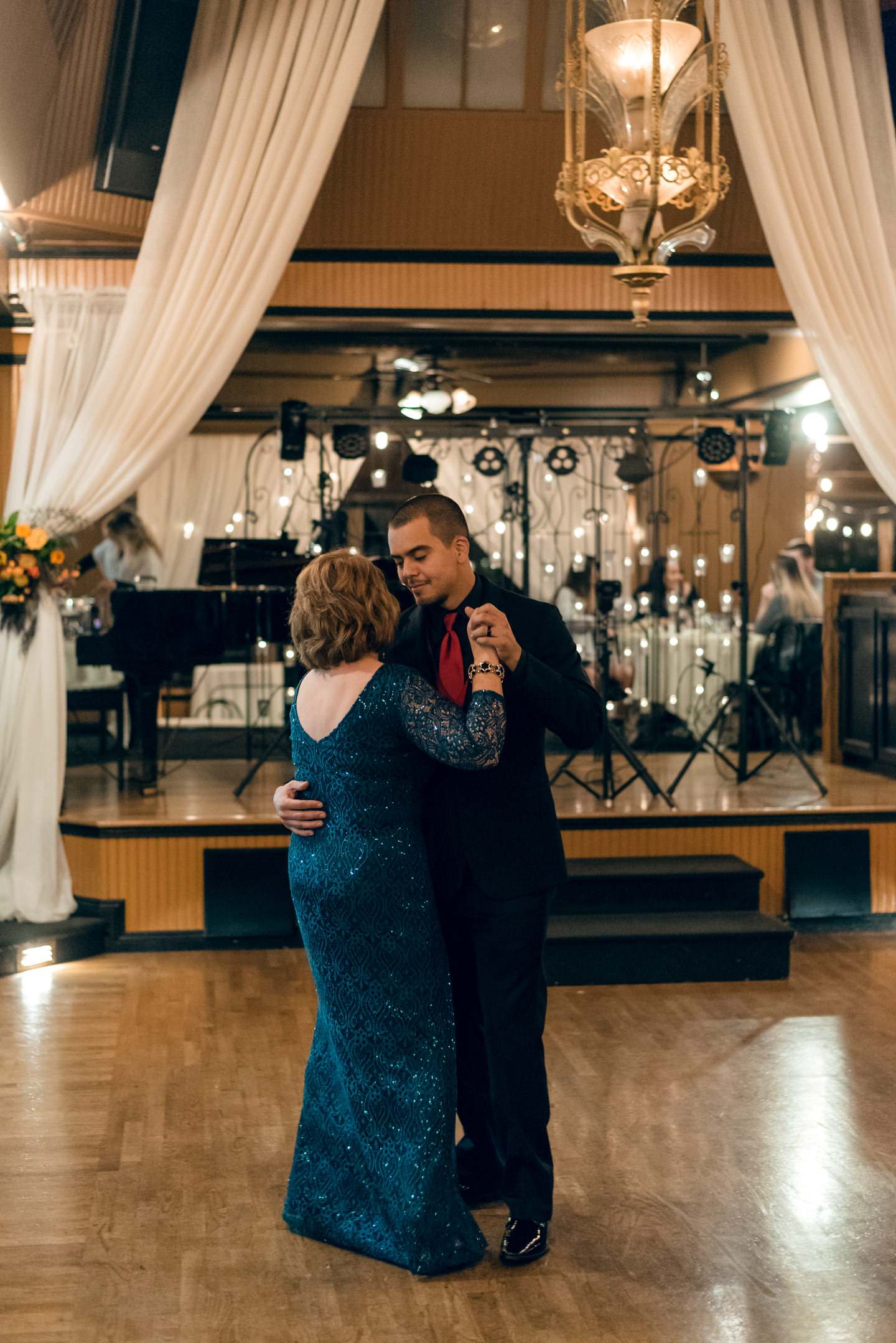 Mexican Groom and Mother Dance at Lake Union Cafe