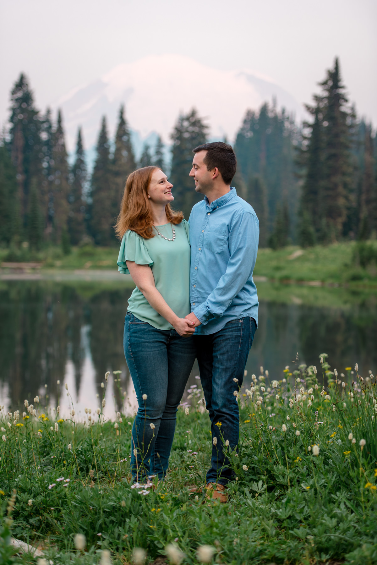 Andrew Tat - Documentary Wedding Photography - Tipsoo Lake - Mount Rainier National Park, Washington - Erin & Robert - 17.JPG