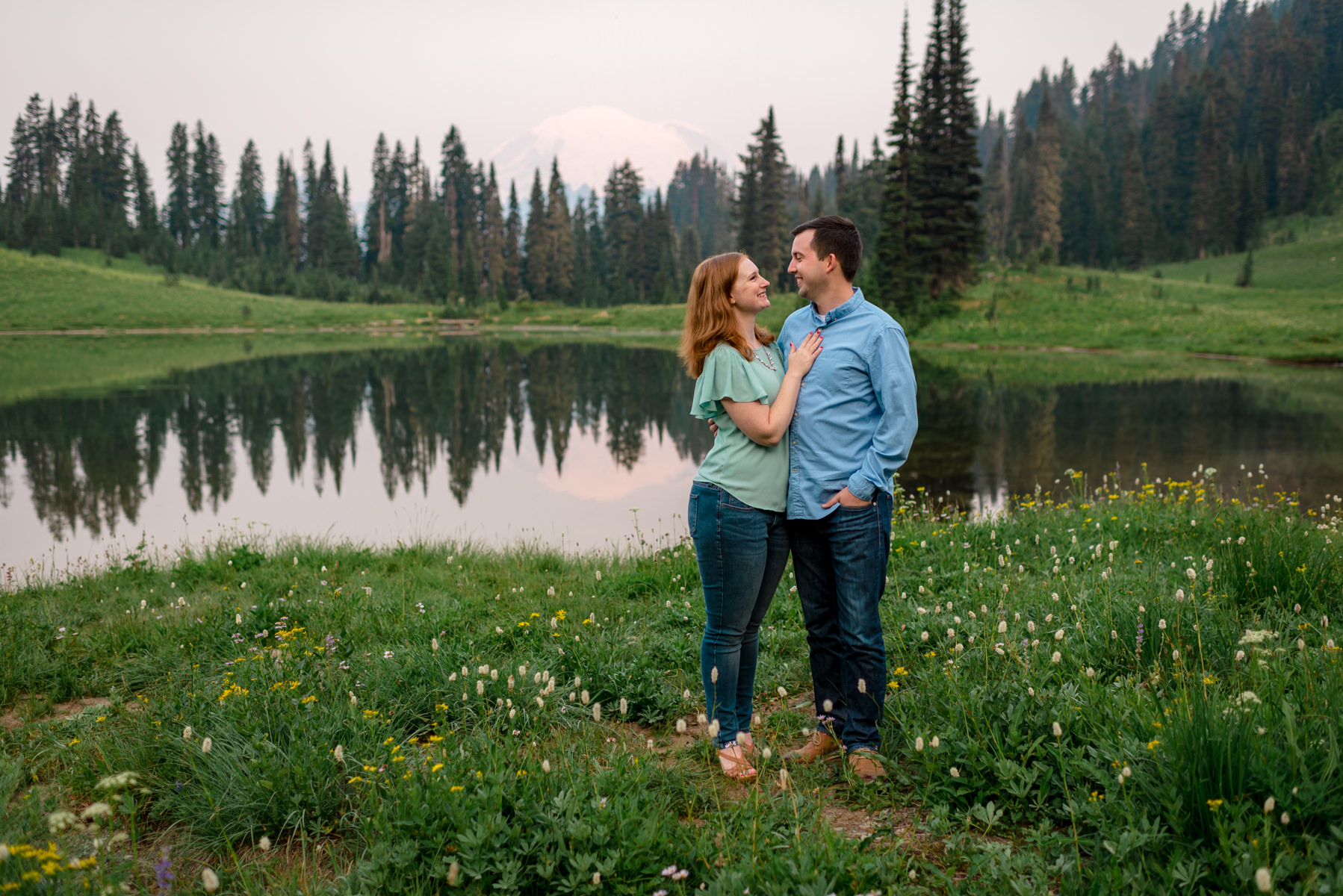 Andrew Tat - Documentary Wedding Photography - Tipsoo Lake - Mount Rainier National Park, Washington - Erin & Robert - 20.JPG