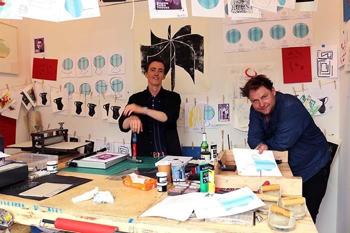 Print & Friends Unltd. in IPCNY's workshop space
