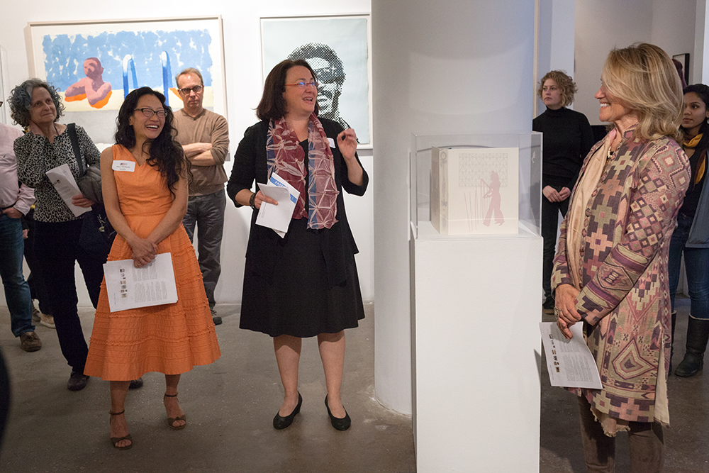 Co-Curators Mina Takahashi and Susan Gosin with IPCNY Director Judy Hecker (Center)