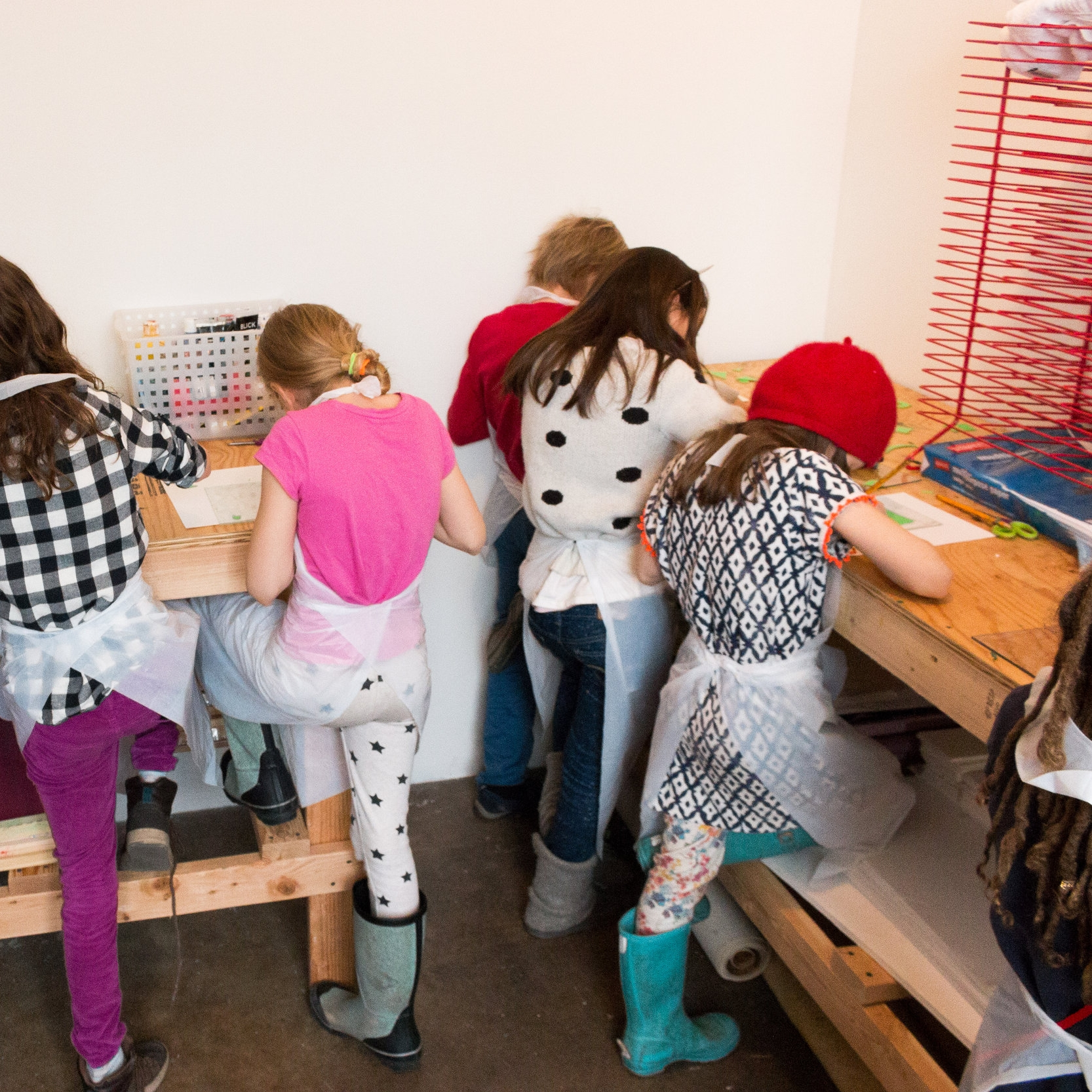 Elementary & middle school groups - Led by a trained artist educator. Following a short tour the exhibition, children learn about techniques such as woodblock, etching, engraving, and silkscreen and engage in kid-friendly printmaking activities.